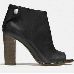 Coach Labelle Calf Leather Black Boots